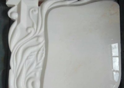 HEADSTONE MADE BY WHITE GREEK MARBLE